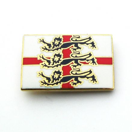 England 3 Lions St George Lapel Badge